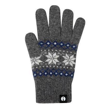 iTouch Gloves(アイタッチグローブ) スマホ用手袋 ニット ジャカード S グレー