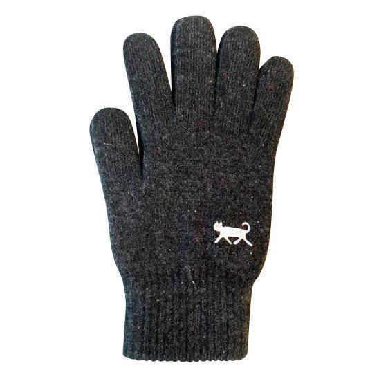 iTouch Gloves(アイタッチグローブ) ねこ(ブラック)