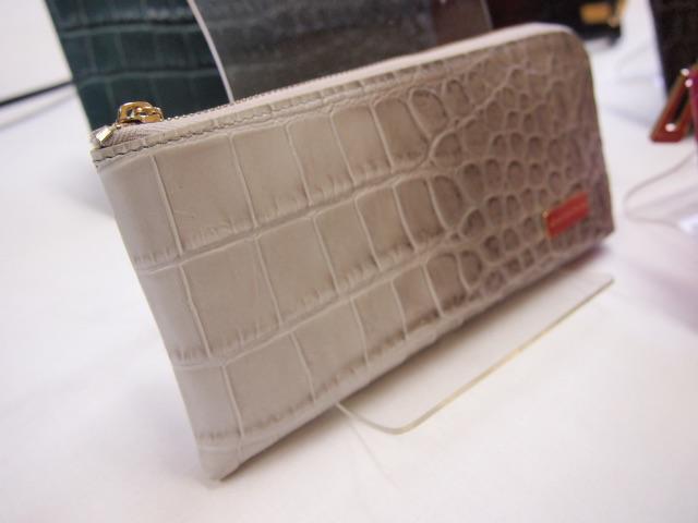 メリディアナ社 イタリアンレザー クロコ型押し長財布2