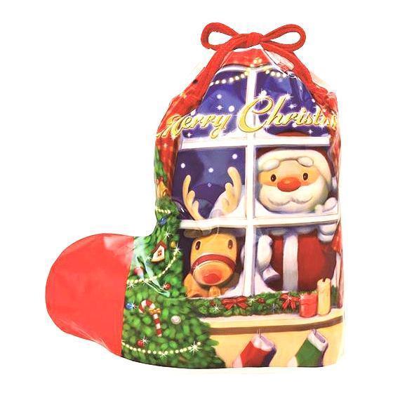 クリスマス ソックスバッグH5203 ブルー