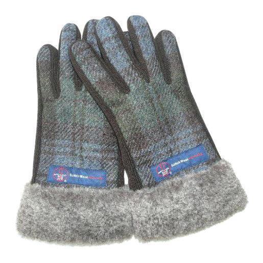 BRITISHWOOL(ブリティッシュウール) 裏ボアニットスエードコンビボアLADY'S手袋(オリーブ)